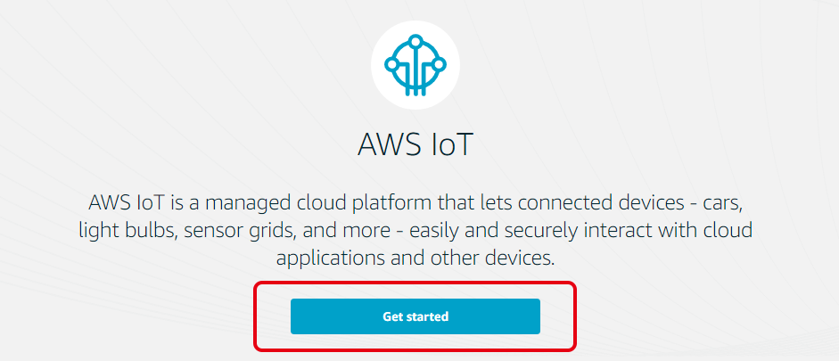 AWS IoT Get started